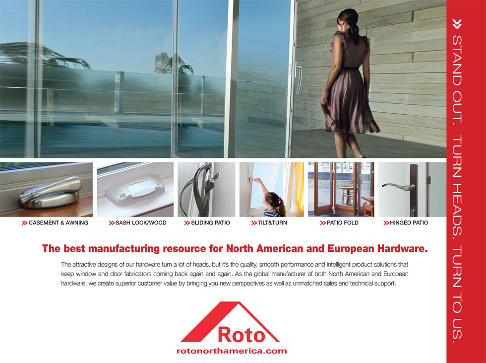 Roto North America Stand Out Turn Heads Ad